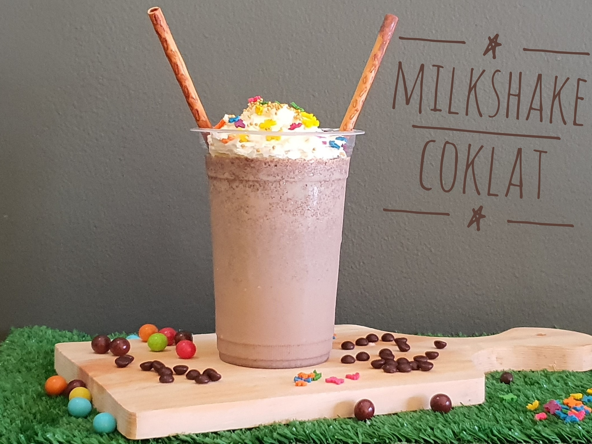 cara membuat milkshake coklat